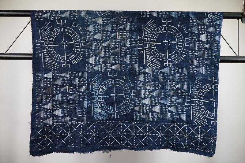 "Wax Resist Dogon Textile 59"" x 40"" - Mali - African Art"
