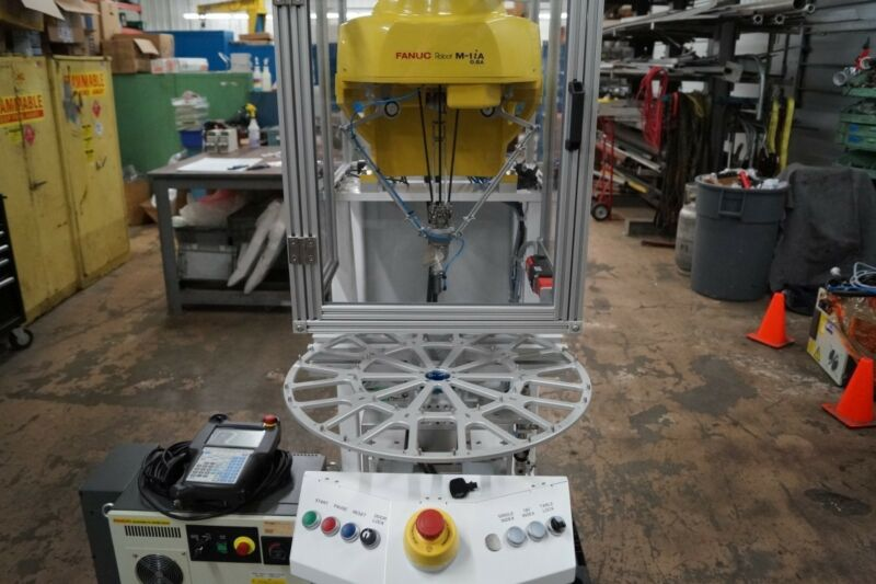 Fanuc M-1iA/0.5A 7 Axis Delta Robot Cell w/ Indexing Table R-30iB ABB MOTOMAN