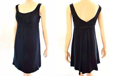 VTG 60s MOD Hot Designer S Howard HIRSH Empire Waist Bow Back Party Dress S