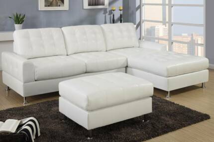 BRAND NEW RETRO BONDED LEATHER CHAISE SOFA FROM $1099 Bibra Lake Cockburn Area Preview