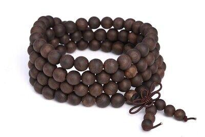 """6MM 108 Pcs Ebony Blackwood Mala Beads Natural Wood Black Round Beads 27"""""""