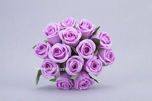1pcs/14pcs ROSE STEM POSY WEDDING BRIDAL BOUQUET STEM ARTIFICIAL SILK  FLOWERS