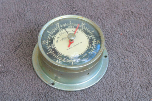 Airguide Working Marine Barometer Vintage Nautical Boat Ship Working Old LB