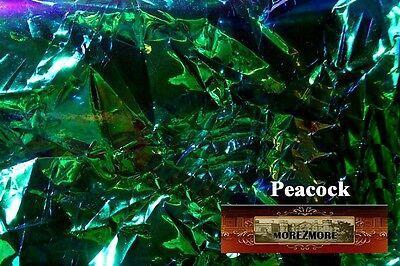 M00210 MOREZMORE Angelina Fantasy Film PEACOCK GREEN Heat Bondable 10' T20