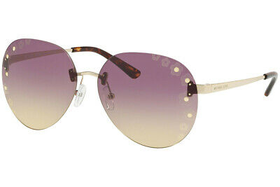 Authentic MICHAEL KORS SYDNEY MK1037 - 121270 Sunglasses Light Gold *NEW* 60mm