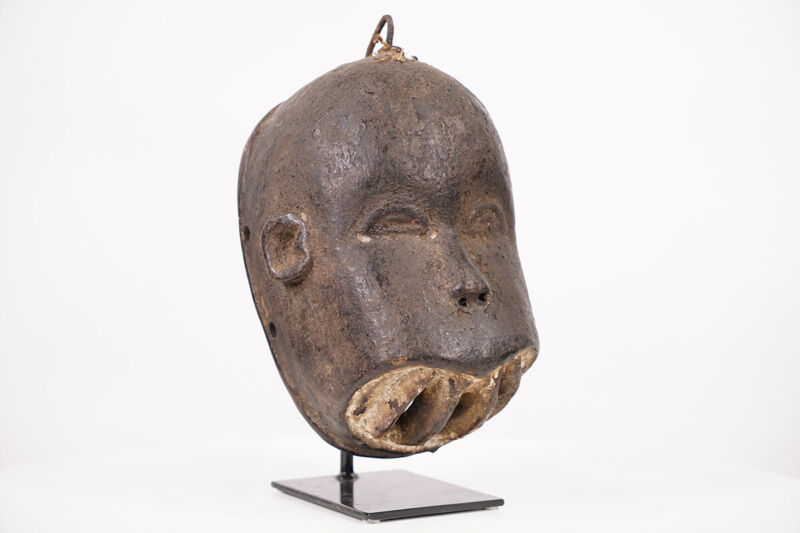"""Intriguing Unknown African Mask 12.5"""" on Stand - African Art"""