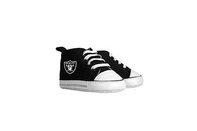 Oakland Raiders Schuhe (Oakland Raiders Pre Walkers Hightop Shoes Sneakers 0-6 Months Baby Fanatic NWT)