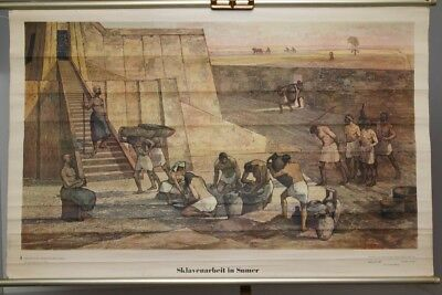 schulwandkarte Role Map Wall Chart Slave Labor in Sumer Rip Antique History