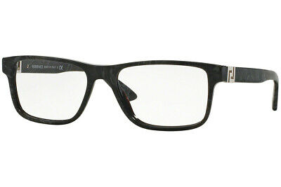 New Versace VE 3211 5145 Grey Marble Eyeglasses RX Frames 55mm 55-17-145 Italy