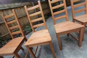 ~ RRP $180 ~ LOT 4x Dinning Chairs Kaustby Ikea ~ Good Quality ~ St Kilda East Glen Eira Area Preview