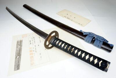 """NTHK Attested: Japanese Samurai Long Katana Sword """"Shimosaka 越前下坂"""" Nihonto"""
