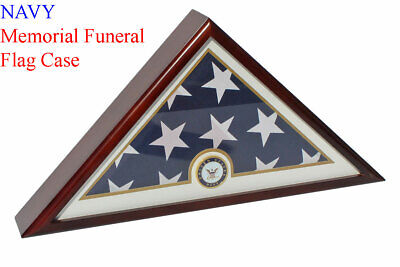 NAVY Flag Display Case Box, 5x9 Burial - Funeral - Veteran Flag Case](Flag Display Box)