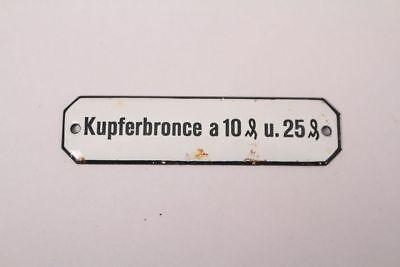 Kupferbronce a 10 u.25 Enamel Sign Colonial Pharmacy Grocer Medicine