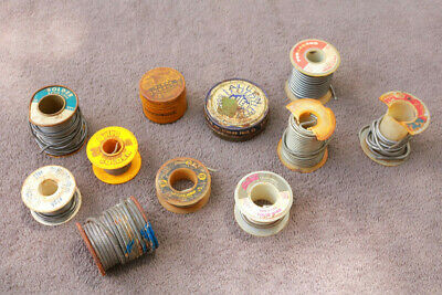 Solder 4 Pounds Old Various Types With Tins Of Flux Vintage Historic Useful Iz