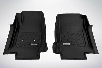- 2-Piece Black Front Floor Liners that fit 2015 - 2019 GMC Canyon Extended Cab