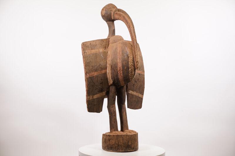 "Senufo Hornbill Statue 40.5"" - Ivory Coast - African Art*"