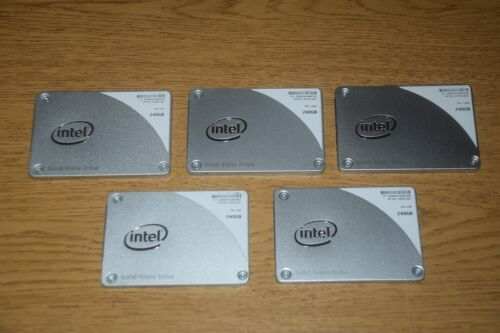 Lot of 5 - Intel 240GB SSD Hard Drive - Pro 1500 Series (SSDSC2BF240A4H)