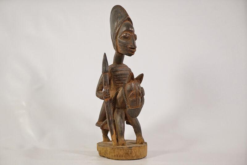"Yoruba Horse and Rider Figure 17"" - Nigeria - African Art"
