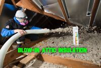 *{Attic insulation removal}&{blown-in attic insulation}
