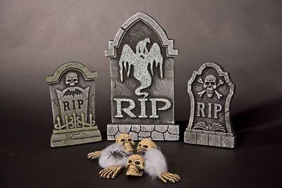 Friedhof 12-teilig Grabsteine Skelett Teile  (Halloween Skelett-teile)