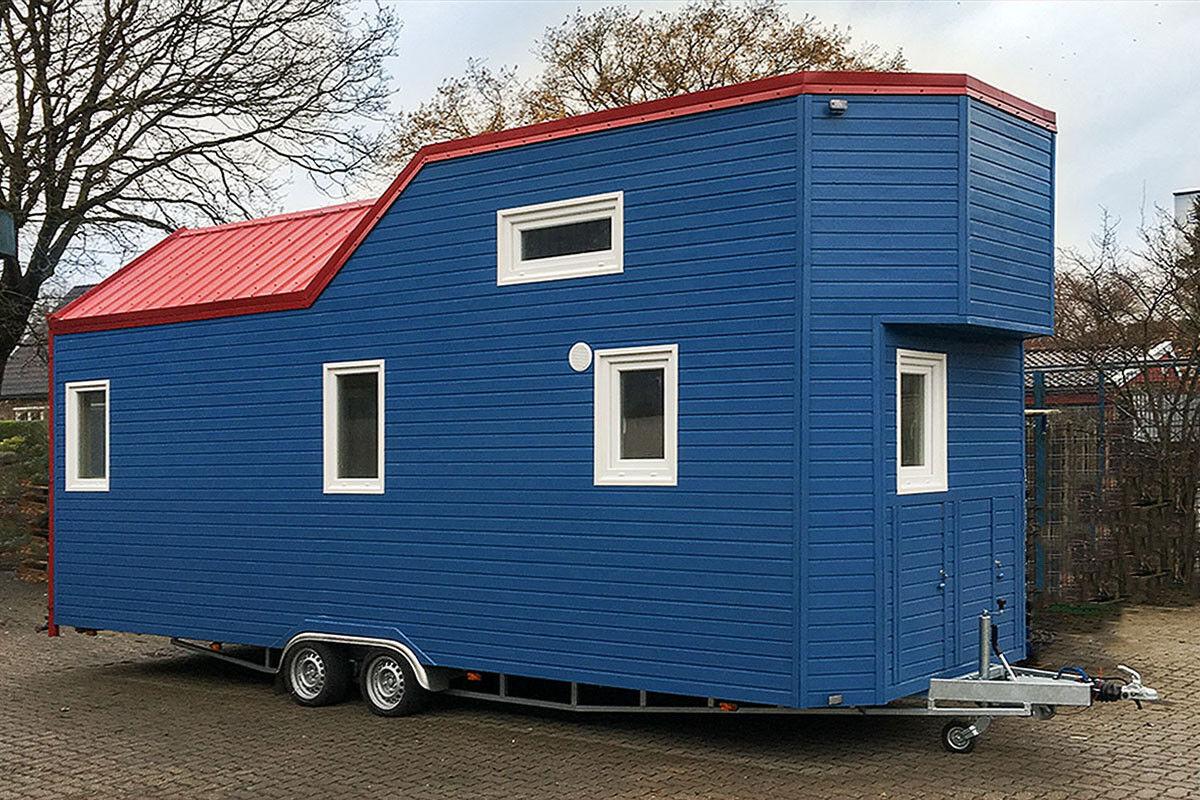 Rolling Tiny House, 7,8 m, baugenehmigungsfähig, schlüsselfertig, voll möbliert