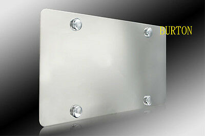 Plain Stainless Steel Heavy Metal Mirror Chrome License Plate-Fits TOYOTA MAZDA