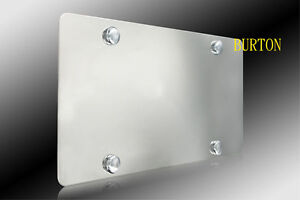Blank Stainless Steel Heavy Metal Mirror Chrome License Plate-HUMMER FORD SAAB