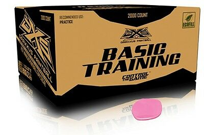 DXS Basic Training Paintballs Case of 2000 Rounds - PINK FILL