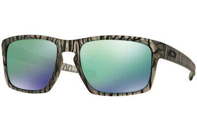 Oakley Sonnenbrille Silber Matt Olive Tinte mit / Jade Iridium Linse OO9262-22