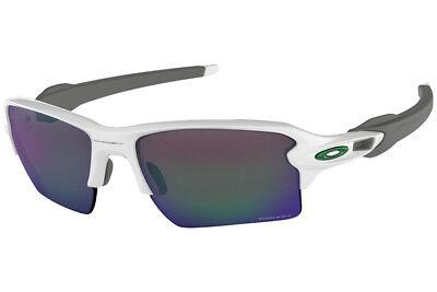 Oakley Flak 2.0 XL OO9188-92 Sunglasses Polished White Prizm Jade Lens 9188 92