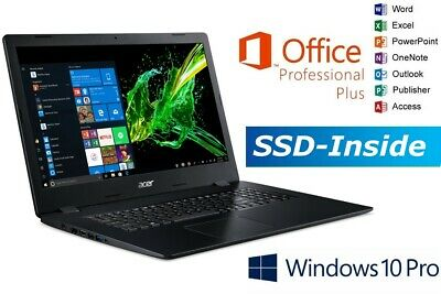 NOTEBOOK ACER A317 DC - BIS 2000GB SSD - 17.3  WXGA - WINDOWS 10 PRO - OFFICE