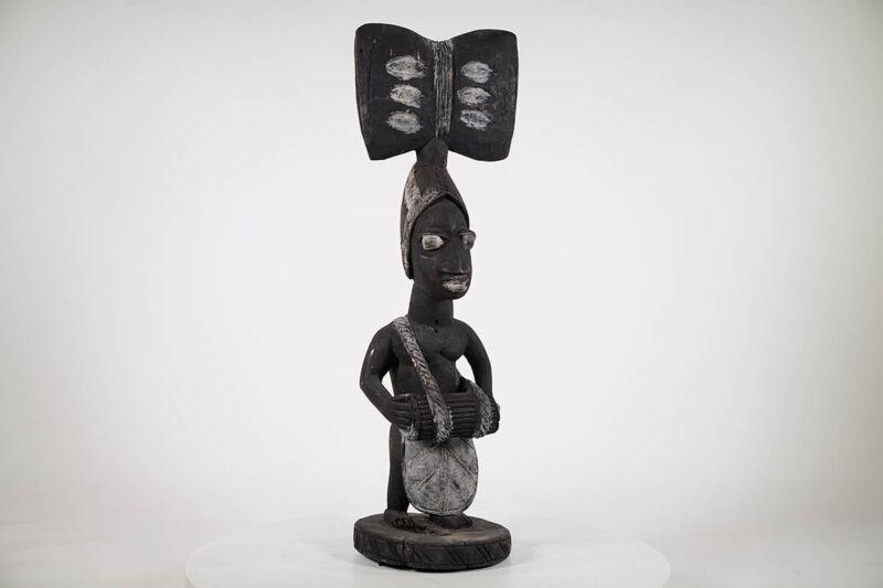 "Yoruba Oshe Shango Statue 26"" - Nigeria - African Art"