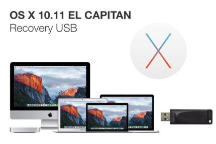Apple OS X 10.11 El Capitan recovery / installer USB drive