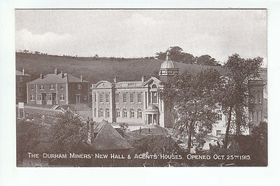 Durham Miners New Hall & Agents Houses 23 Oct 1915 Redhills San Bride Old PC