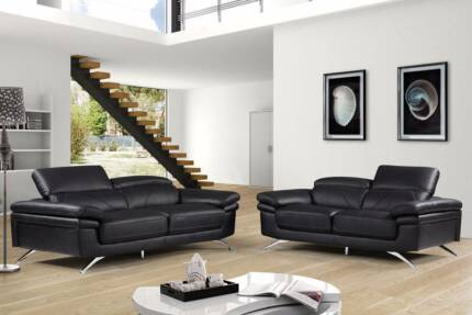 CLEARANCE SALE - THIS WEEKEND! MONTEGO LEATHER 3+2 SOFA SUITE