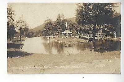 1922 Swimming Pool At Piney Mt. Inn, On Lincoln Way RPPC by C.L. Laughlin