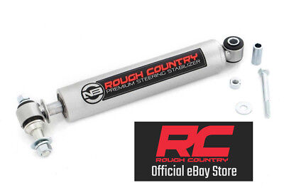 Rough Country Steering Stabilizer - 97-06 Jeep Wrangler TJ 4WD