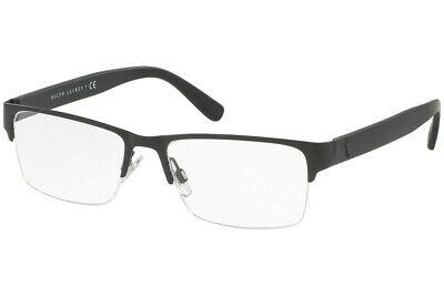 New POLO RALPH LAUREN PH1164 9038 56mm Matte Black Eyeglasses RX Frames