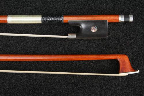 E Sartory Pernambuco Violin Bow Silver Ebony Frog 4/4 61-62g Octagonal