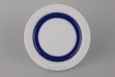 6 kleine Teller Thomas Porzellan blaues Band, 1960er Jahre