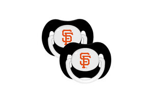 San Francisco Giants Baby Pacifier Set of 2 - Officially Licensed MLB BPA Free