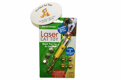 Best Cat Toys Red Dot Laser Light Pointer w 4 Different Shapes w