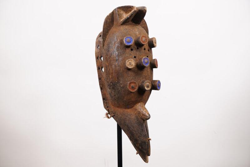 """Nine-Eyed Grebo Bird Mask 24"""" - Ivory Coast/Liberia - African Art"""
