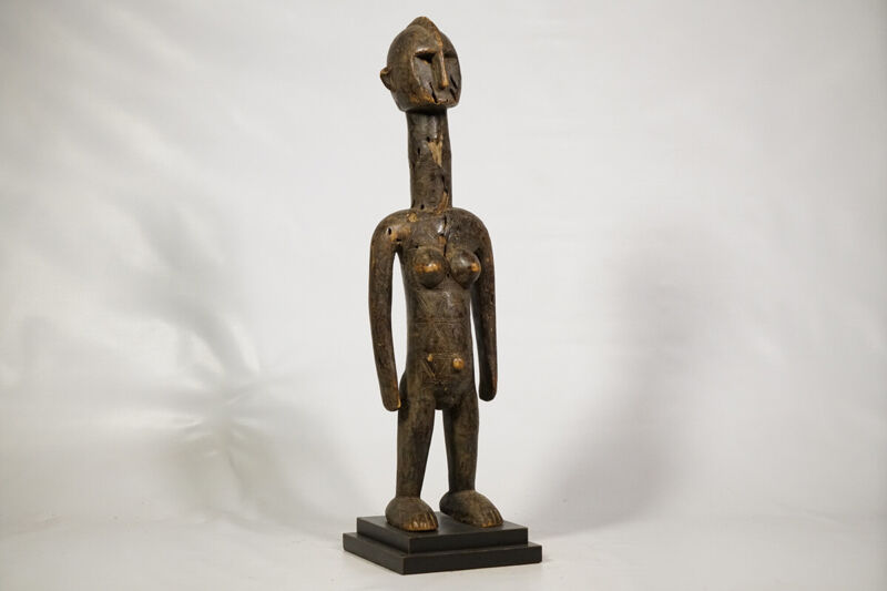 "Mossi or Lobi Statue on Base 25.5"" - Burkina Faso - African Art"
