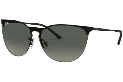 Ray Ban Sunglasses RB3652 901411 41 Black Rubber Frame / Grey Gradient (Ray Ban Rubber Frame)
