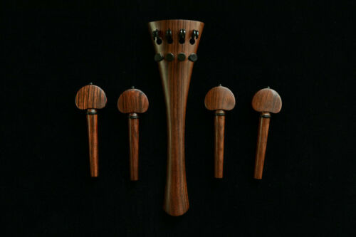 High Quality Rosewood Cello Accessories&Fittings 4/4 Full Size Tailpiece&4 Pegs