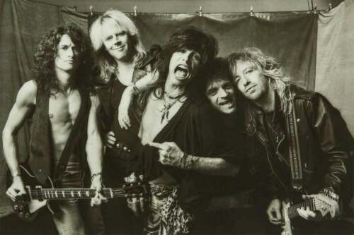 AEROSMITH BLACK AND WHITE GROUP POSTER 36x24 NEW FREE SHIPPING