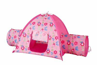 Princess Play House Indoor Outdoor Play Tent w 2-Tunnels for Kids Pink Great Fun
