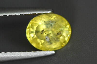 1.670 CT CERTIFIED ADMIRE TOP VIVID* YELLOW NATURAL UNHEATED CEYLON SAPPHIRE GEM