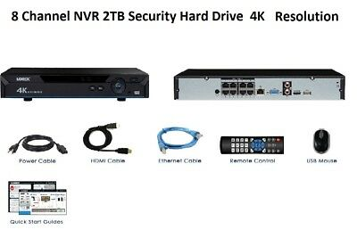 Lorex 4K - Ultra HD - NVR - IP- 8 Channels 2TB HDD - Lorex Secure Connect - NEW